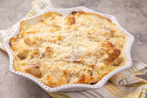 Cheesy Baked Tilapia Casserole